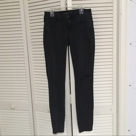 American Eagle Outfitters Denim - American Eagle Gray Distressed Jeggings